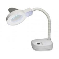 Лупа-лампа ZD-122, 3Х-90мм; 8Х-22мм с LED подсветкой, настольная, круглая