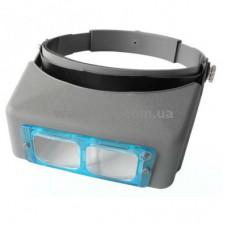 Лупа бинокулярная(материал линз - стекло)  1,5х 2x 2,5х 3,5х кр. увеличение(MG81007-B)