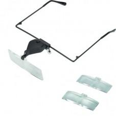 Увелич. стекло со сменными стёклами c подсв.(очки) 1,5х2,5x3,5кр.увел.(MG19157-3)