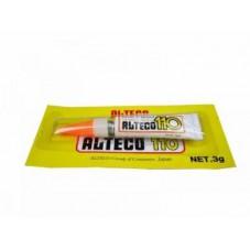СУПЕР-КЛЕЙ ALTEKO-110, блистер, 3г, Индонезия. Цианакриловый клей для металла, пластмасс, дерева, стекла, бумаги, кожи, резины.