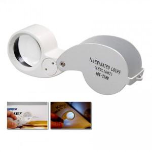 Лупа ювелирная MG21011 с LED подсветкой, 30Х, диам. 25мм