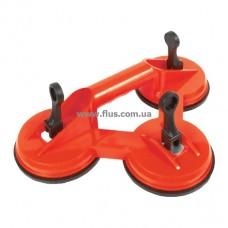Держатель-присоска для стекол тройная 3x120 мм, max 160 кг INTERTOOL HT-7103