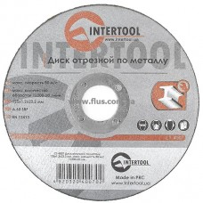Диск отрезной по металлу 125x1,2x22,2 мм INTERTOOL CT-4007