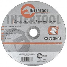 Диск отрезной по металлу 180x1.6x22.2мм INTERTOOL CT-4013