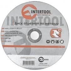Диск отрезной по металлу 180x2.0x22.2мм INTERTOOL CT-4014