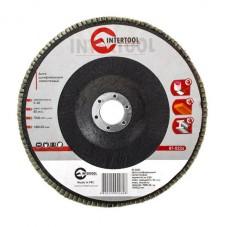 Диск шлифовальный лепестковый 180x22 мм, зерно K60 INTERTOOL BT-0226
