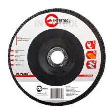 Диск шлифовальный лепестковый 180x22 мм, зерно K80 INTERTOOL BT-0228