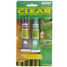 ALTECO ЭПОКСИДНЫЙ 2х10г(Прозрачный), Индонезия.  2-х компонентный клеющий состав(металл, пластик, резина,  дерево,  керамика,  стекло,  хрусталь, ювелирные изделия). Время застывания 5 минут.