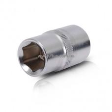 """Головка шестигранная 1/2"""", 15x38 мм,хром-ванадий INTERTOOL ET-0015"""