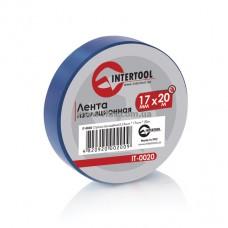 Лента изоляционная 0,15 мм x 17 мм x 20 м синяя INTERTOOL IT-0020
