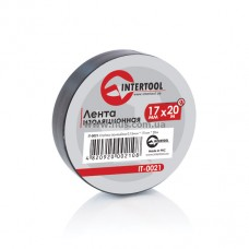 Лента изоляционная 0,15 мм x 17 мм x 20 м черная INTERTOOL IT-0021