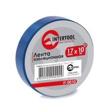 Лента изоляционная 0,15 мм x 17 мм x 25 м синяя INTERTOOL IT-0025
