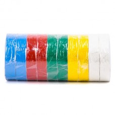 Лента изоляционная 0,15 мм x 17 мм x 25 м цветная (упаковка 10 шт) INTERTOOL IT-0029