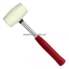 Киянка резиновая 680 г. 80 мм, белая резина, металлич. ручка INTERTOOL HT-0235