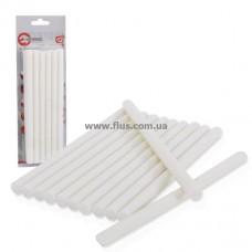 Комплект белых клеевых стержней 11,2 мм x 200 мм, 12 шт. INTERTOOL RT-1022