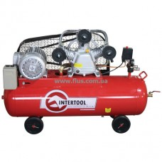 Компрессор 100 л, 5 HP, 4 кВт, 380 В, 8 атм, 600 л/мин. 3 цилиндра INTERTOOL PT-0036
