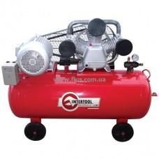 Компрессор 200 л, 10 HP, 7,5 кВт, 380 В, 8 атм, 1050 л/мин. 3 цилиндра INTERTOOL PT-0040
