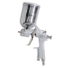 HP STEEL 100 Краскораспылитель 1,0 мм, верхний металлический бачок 400 мл, три регулировки INTERTOOL PT-0201