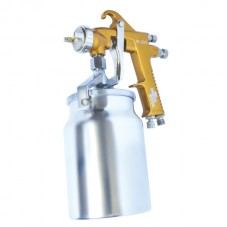 HP BRONZE PROF Краскораспылитель 1,5 мм, нижний металлический бачок 1000 мл. INTERTOOL PT-0221