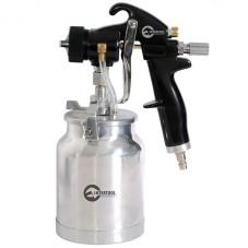 HVLP BLACK PROF Краскораспылитель 1,5 мм, нижний металлический бачок регулируемой подачей давления INTERTOOL PT-0214