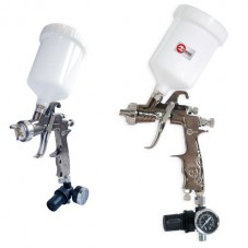 LVLP PROF краскораспылитель 1,3 мм, с редуктором, пласт. в/бачок 600 мл., 2 атм INTERTOOL PT-0130