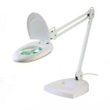 Настольная лампа-лупа ZD-140, 5Х-130мм с LED подсветкой на подставке