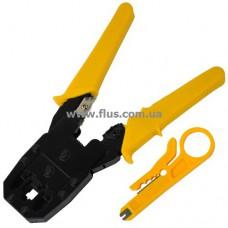 Инструмент НТ-315, для обжима 4р4с, 6р4с, 8p8c+ зачистка
