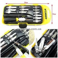 Набор ножей для резьбы по дереву (14шт.) R'Deer RT-M114