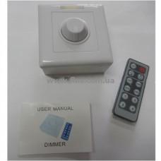 Диммер для LED ленты 12V, 6A, с инфракрасным пультом управления