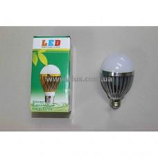 Лампочка светодиод. 220В, 9Вт, Е27, алюм.корпус, натуральный свет