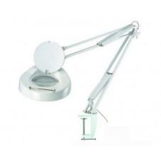 Настольная лампа-лупа MAGNIFIER COSMET LAMP с люминисцентной подсветкой на струбцине, с увеличением 5 диоптрий