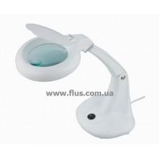 Лампа-лупа Magnifier Domo Lamp, 3+12 диоптрий, диаметр 100мм