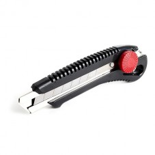 Нож с металлической направляющей под лезвие 18 мм с винтовым фиксатором INTERTOOL HT-0502