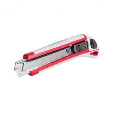Нож с 3-мя отломными лезвиями 18 мм, металлическая направляющая, противоскользящий корпус. INTERTOOL HT-0508