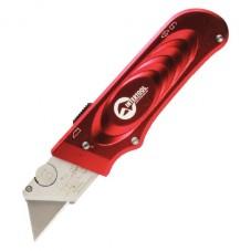 Нож с выдвижным трапециевидным лезвием, металлический корпус INTERTOOL HT-0515
