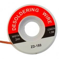 Лента для удаления припоя, 2,0мм, катушка 1,5м (ZD-180)