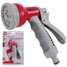 Пистолет-распылитель для полива 8-ми функциональный (центральный, туман, душ, угловой, полный, проливной дождь, конический, плоский.) ABS, PP,TPR INTERTOOL GE-0001