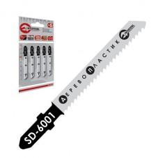 Полотно пильное для лобзика рабочая длина 50 мм, расстояние между зубьями 2 мм для работы по дереву INTERTOOL SD-6001