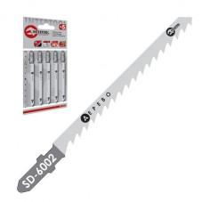 Полотно пильное для лобзика рабочая длина 75 мм, расстояние между зубьями 4 мм для работы по дереву INTERTOOL SD-6002