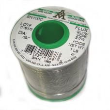 Припой бессвинцовый SN100C(Канада), диам 1мм, 500г, с флюсом(2,5%)