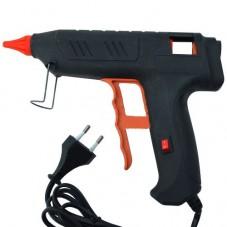 Клеящий пистолет с кнопкой HD-02, под клей 11мм, 120W, чёрный
