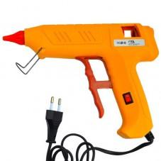 Клеящий пистолет с кнопкой HD-02, под клей 11мм, 120W, жёлтый