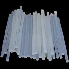 Термоклей тонкий диам.-7мм, длина - 200мм, прозрачный (1кг)