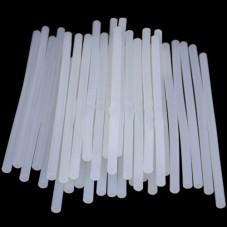 Термоклей тонкий диам.-7мм, длина - 200мм, молочно-непрозрачный (1кг)
