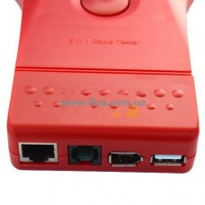 Кабельный тестер мультифункциональный 5 in 1 (RJ-11, RJ-45, BNC, USB, 1394)
