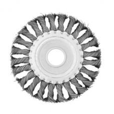 Щетка кольцевая 125x22,2 мм (пучки витой проволоки) INTERTOOL BT-7125