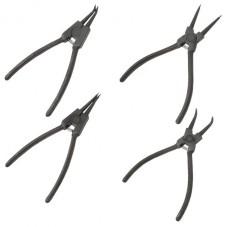 Набор щипцов (4шт) для снятия и установки стопорных колец 150 мм INTERTOOL HT-7001