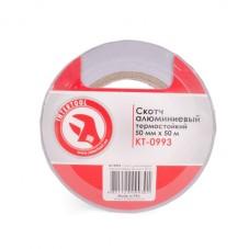 Скотч алюминиевый термостойкий 50 мм*50 м INTERTOOL KT-0993