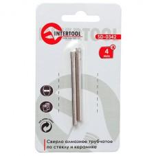 Коронка трубчатая по стеклу и керамике 4 мм (упаковка 2 шт) INTERTOOL SD-0342