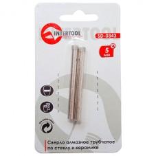 Коронка трубчатая по стеклу и керамике 5 мм (упаковка 2 шт) INTERTOOL SD-0343